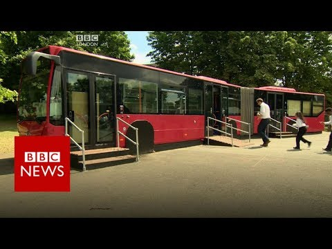 Ed Sheeran donates 'jam bus' to school - BBC News