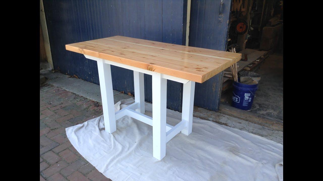 Woodworking Diy Edge Grain Butcher Block Kitchen Table Youtube