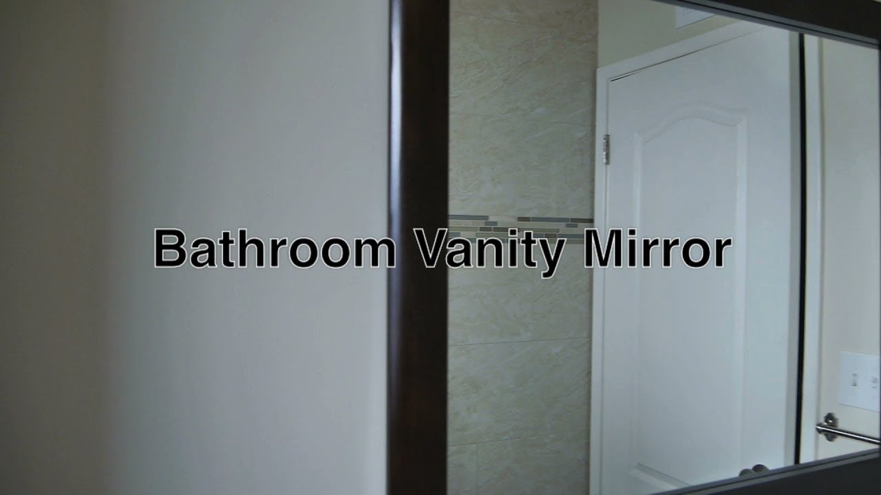 Framed bathroom vanity mirrors - Framed Bathroom Vanity Mirrors As Ideas For Matching Modern Wood Cabinets On Wall W O Lights Shelf