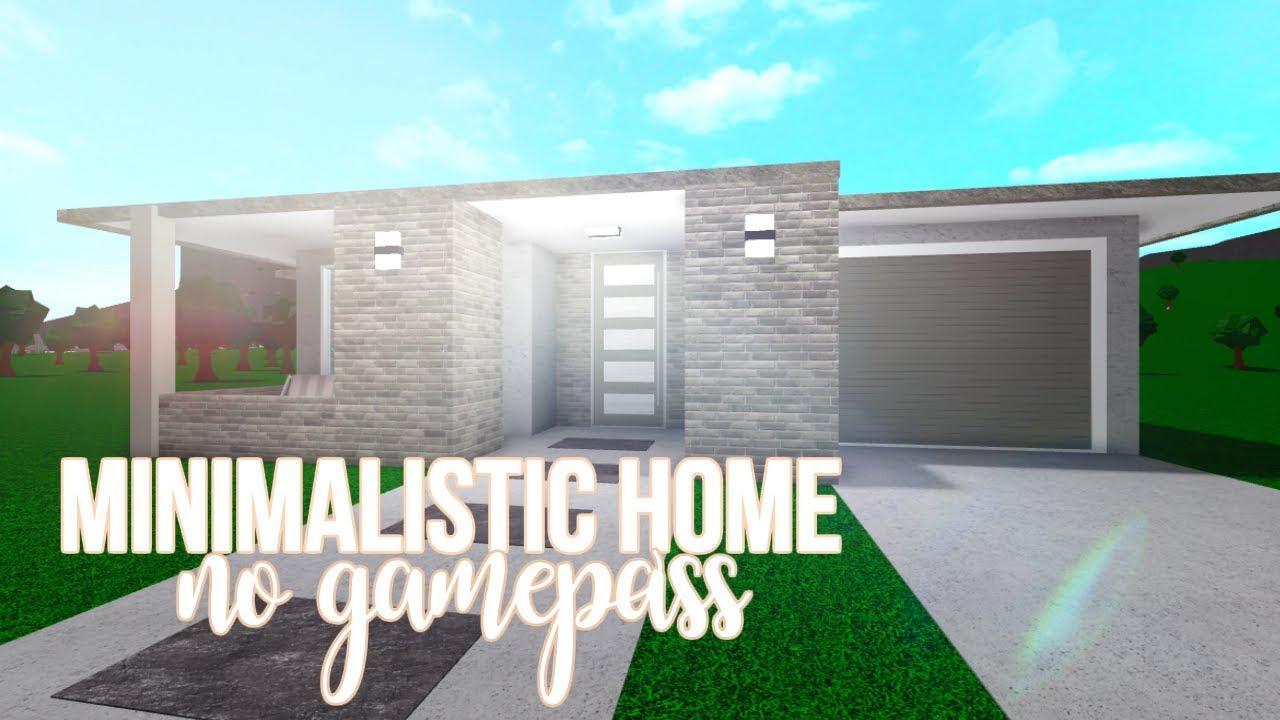 Roblox Bloxburg No Gamepass Minimalistic Home 19k