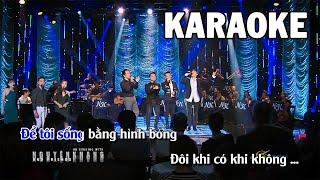 Karaoke | Hãy Cho Tôi - Quốc Khanh, Nguyên Khang, Đoàn Phi & Mai Thanh Sơn | Tone Nam