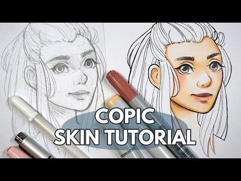 How to Colour Skin & Faces With Copic Markers - Tutorial