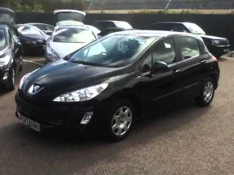 2009 59 plate peugeot 308 1 6 hdi 110 s 5dr black youtube. Black Bedroom Furniture Sets. Home Design Ideas