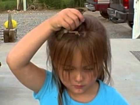 Bird Poops on little Kaydences head.