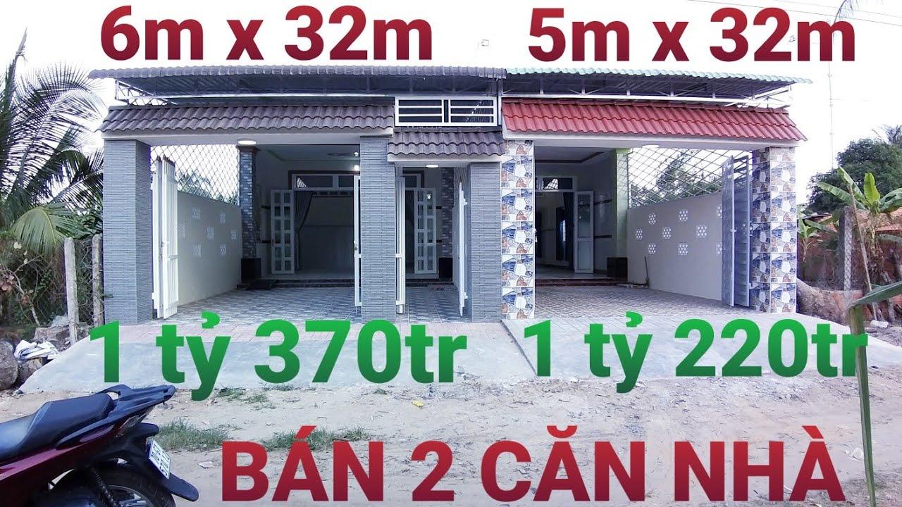 BÁN 2 CĂN NHÀ MỚI XÂY (6 x 32m giá 1 tỷ 370tr) VÀ (5 x 32m giá 1 tỷ 220tr) HƯỚNG TÂY TẠI BÀU NĂNG