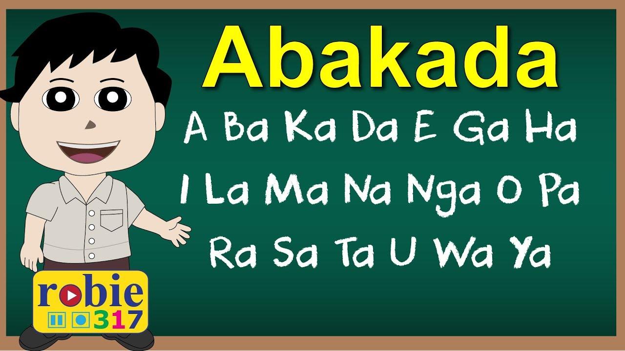 abakada alphabet chart