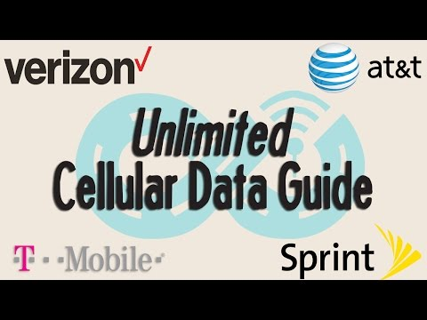 Unlimited Cellular Data Plans Compared - Verizon, AT&T, T-Mobile and Sprint