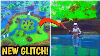 NEW! Fortnite Glitch! *HOW TO* Under Map at LEAKY LAKE! FORTNITE NEW GLITCHES! For PS4/XBOX/PC