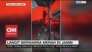 Viral Langit Berwarna Merah Darah di Jambi