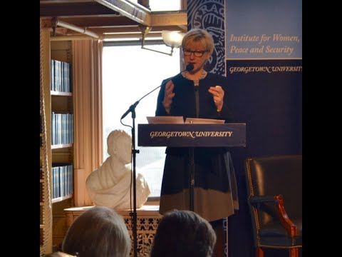 Margot Wallström, Swedish Minister of Foreign Affairs, at Georgetown University