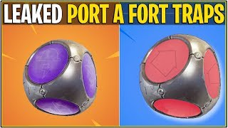 *NEW* Fortnite: LEAKED PORT-A-FORT TRAPS! *Hurt N Heal Updated!*