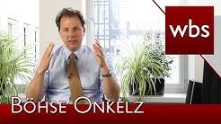 Böhse Onkelz Merchandisingartikel werden abgemahnt! | Kanzlei WBS
