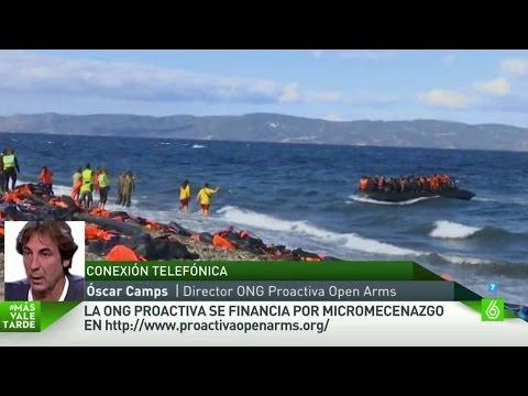 """Óscar Camps, voluntario en Lesbos: """"Lo que más nos trastorna es ver morir a gente"""""""