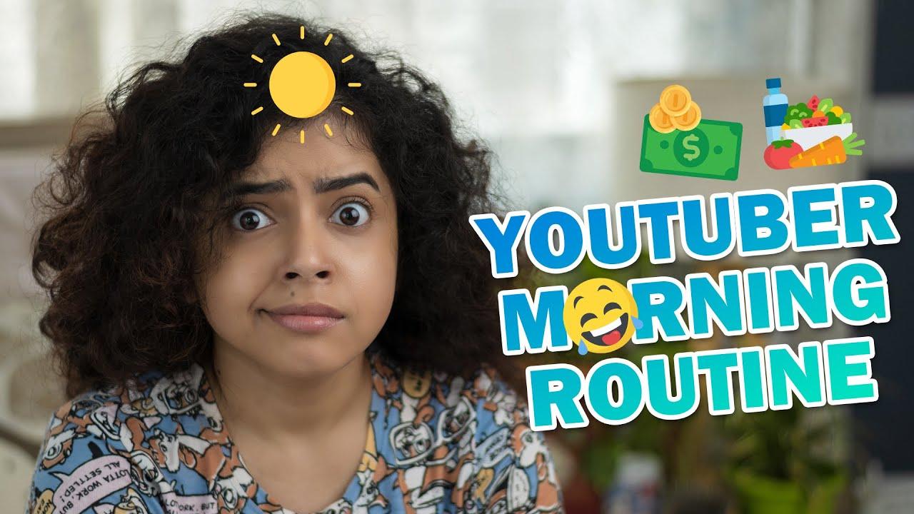 ☀️ 🤣HONEST YOUTUBER MORNING ROUTINE!! 💄Makeup, Skincare, Breakfast,🧘♀️Fitness   Wonder Munna
