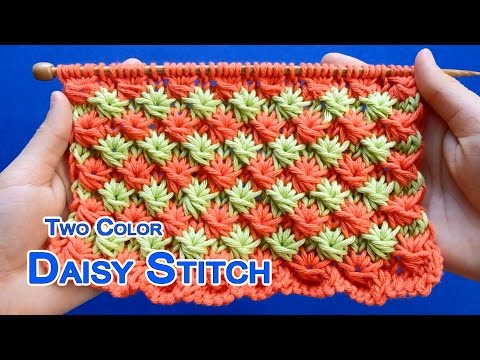 Two Color Daisy Stitch Youtube