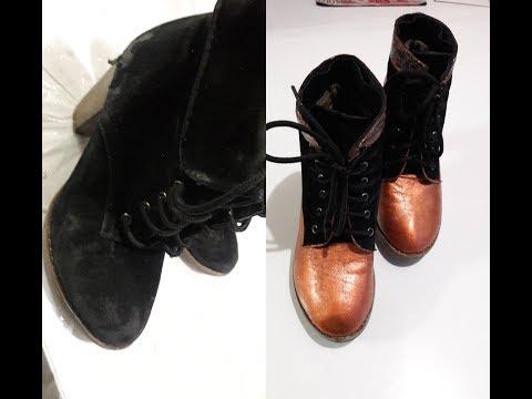Декупаж старой обуви своими руками видео
