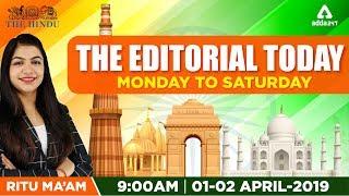 The Hindu Editorial Analysis 1-2nd April  March 2019   Daily Hindu Editorial By RITU Ma'am   9 A.M