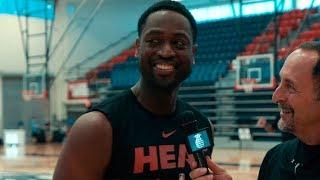 Dwyane Wade on day 1 of Miami Heat Training Camp