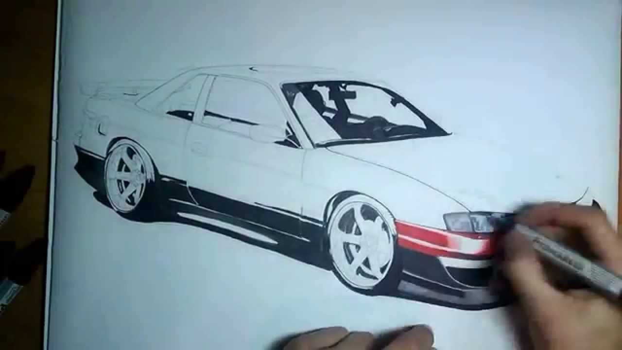 Drawing Nissan Silvia S13