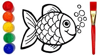 How to Draw a Fish | Drawing and Painting Creative for Kids