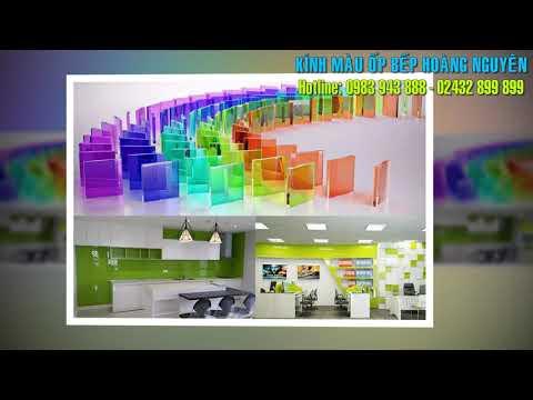 Kính ốp bếp - Kính Màu Ốp Bếp, Kính Ốp Tường Phòng Bếp Cường Lực, Chịu Nhiệt - Hoàng Nguyên Glass