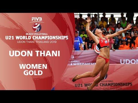 Women's Gold Medal: BRA vs RUS | FIVB Beach Volleyball U21 World Championships 2019 | Udon Thani