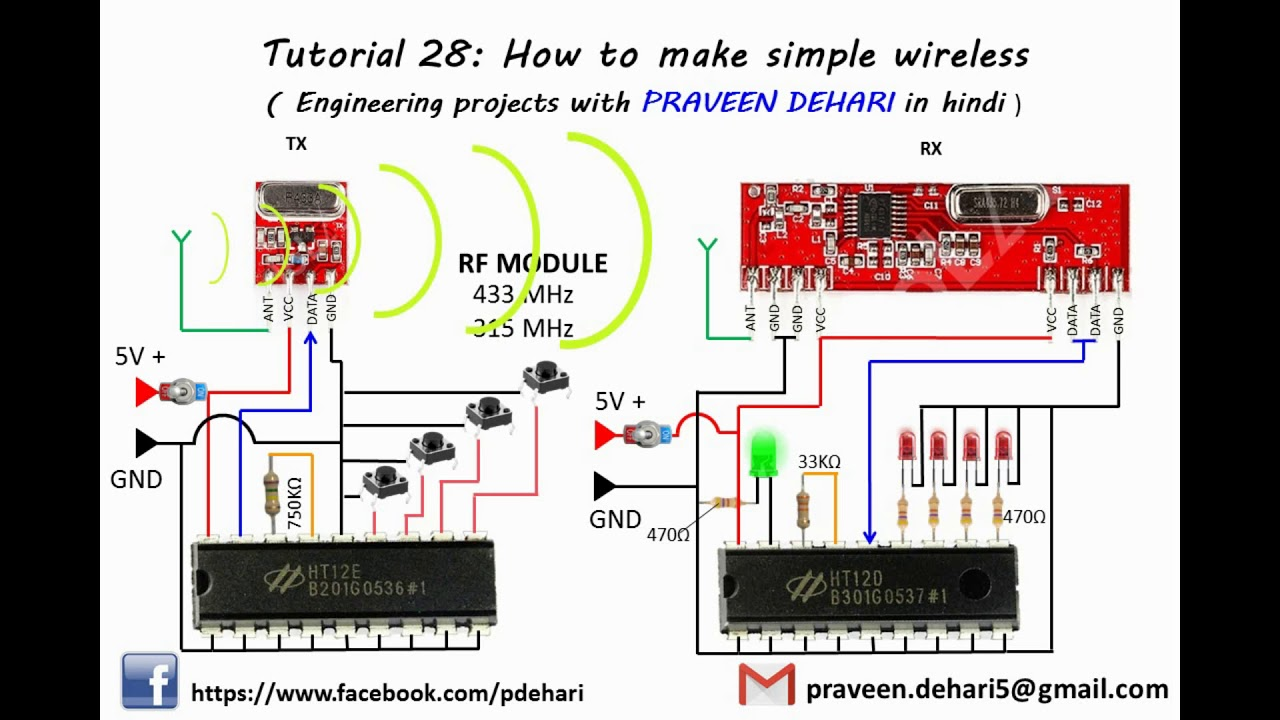 How to make a rf transmitter and receiver? Youtube.