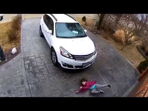 The Ace & TJ Show - Entire Family FALLS HARD on the Icy Driveway!