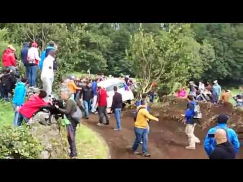 ERC Azores Airlines Rallye 2017 - Catie Munnings Crash