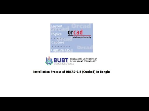 ORCAD 9.2 (Pspice) Installation Process In Bangla