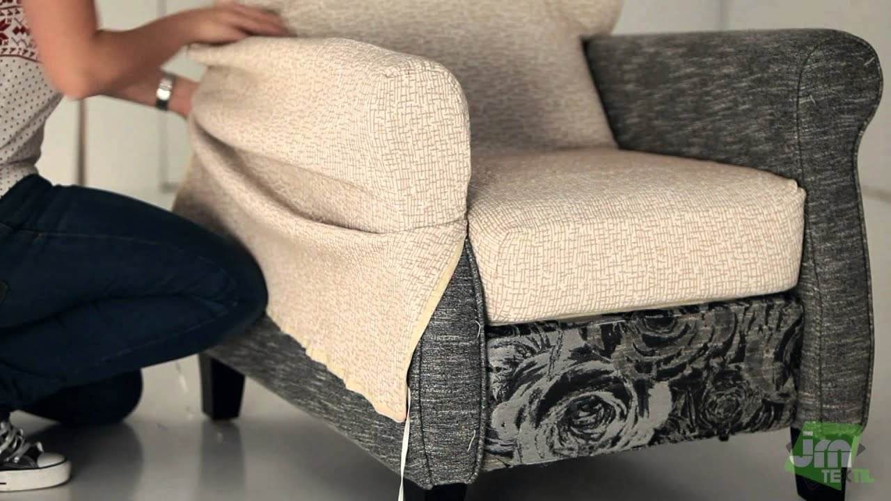 How to Put a Recliner Chair Cover  YouTube