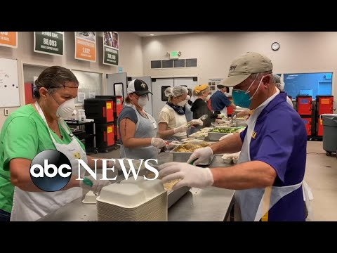 Thousands Line Up At Food Banks As Unemployment Claims Rise