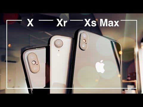 Большое сравнение IPhone X / Xr /Xs Max