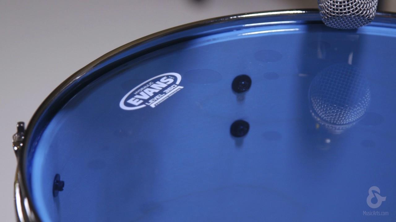 13 Inch Evans Hydraulic Blue Drum Head