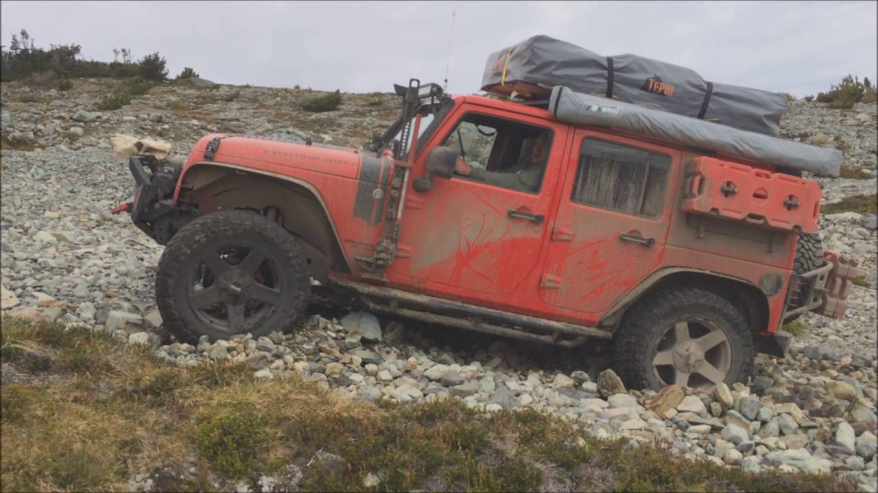 Wrangler Rock 47 >> Getting stuck and winching jeep out - OVERLAND JK EXPEDITION - YouTube