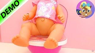 Tandas Baby Born- Baby born buang air dalam tandas! Buka balutan dan demo