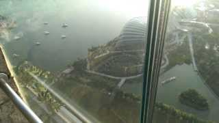 Singapore View from Marina Bay Sands 57th Floor