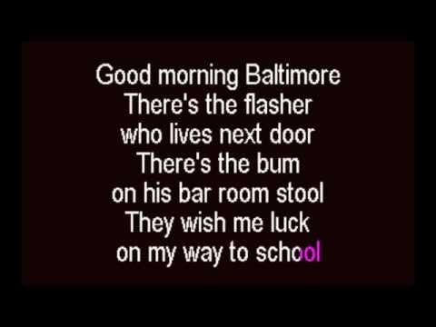 Good Morning Baltimore Karaoke Track