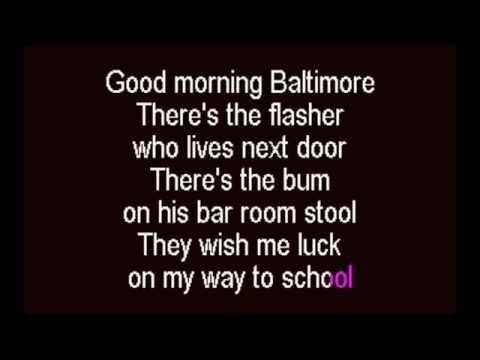 Good Morning Baltimore Karaoke Track