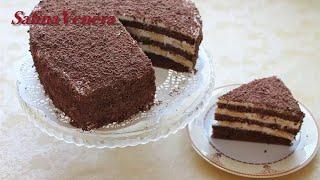 Торт Шоколадно - банановый с медом, нежный очень вкусный. Chocolate Cake - Banana with honey
