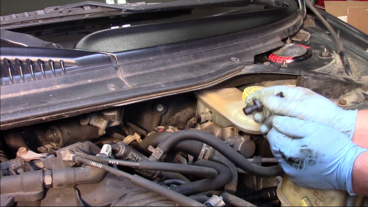 small resolution of master cylinder fluid level sensor installation dodge chrysler plymouth 2 7l