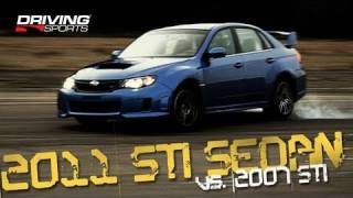 Driving Sports TV - 2011 Subaru WRX STI Sedan vs. 2007 STI