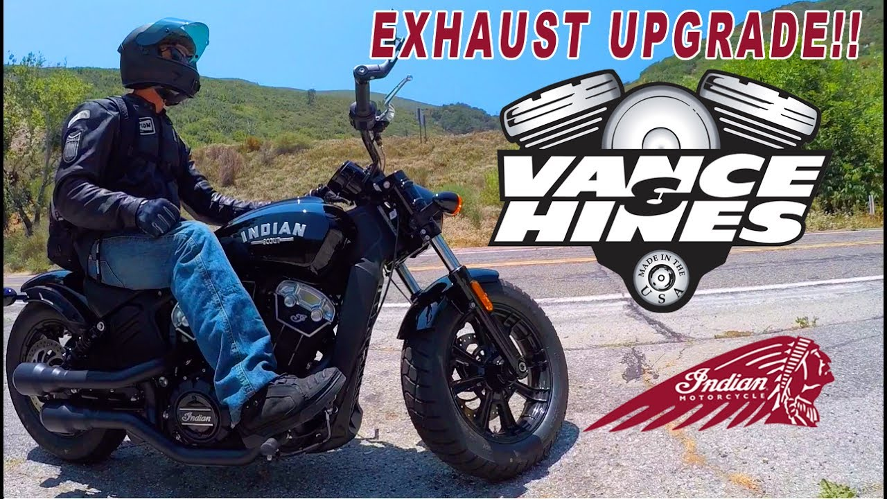 INDIAN SCOUT BOBBER - EXHAUST UPGRADE - YouTube