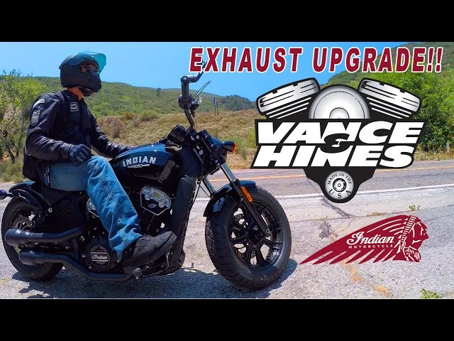 INDIAN SCOUT BOBBER -  EXHAUST UPGRADE