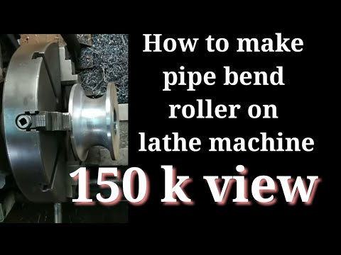 How to Make Pipe ( tube ) Band Diy's Roller on the Lathe Machine