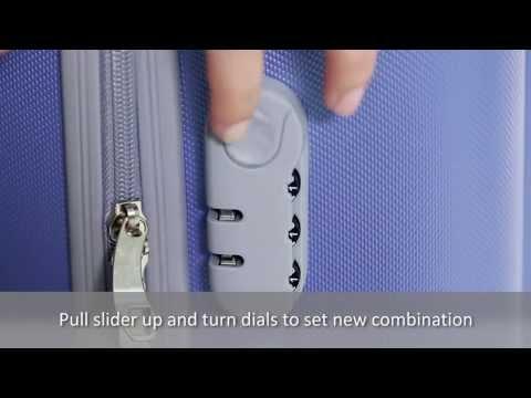 Как поставить код на чемодане видео