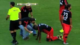 Momento de la lesión de Balanta contra Quilmes