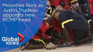 Iconic Canadian Mounties collapse during appointment of new commissioner