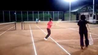 旭化成ソフトテニス部スマッシュ練習②2014.10.08