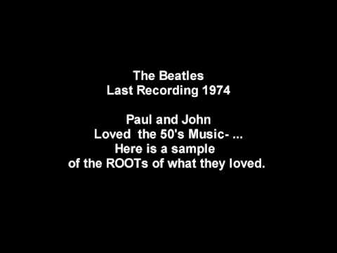 Beatles 50 year, Rare recording. Last Lennon McCartney Song.